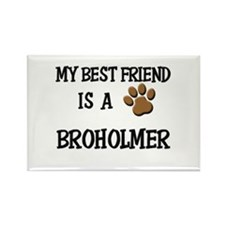 My best friend is a BROHOLMER Rectangle Magnet
