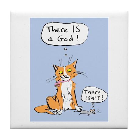 Cat God Tile Coaster