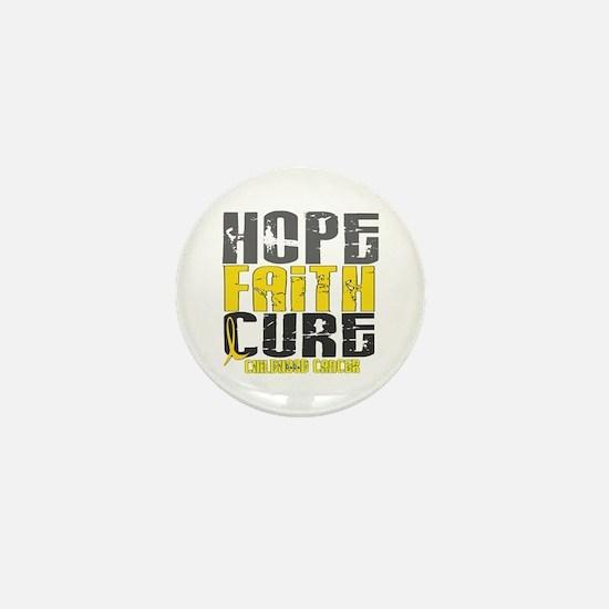 HOPE FAITH CURE Childhood Cancer Mini Button