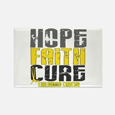 HOPE FAITH CURE Childhood Cancer Rectangle Magnet
