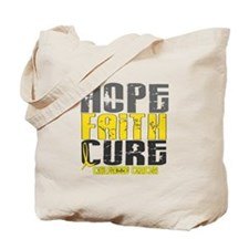 HOPE FAITH CURE Childhood Cancer Tote Bag