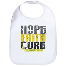 HOPE FAITH CURE Childhood Cancer Bib