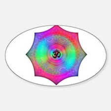 Rainbow Mandala Oval Decal