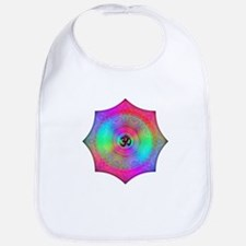 Rainbow Mandala Bib