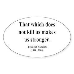 Nietzsche 13 Oval Decal