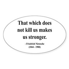 Nietzsche 13 Oval Decal