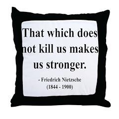 Nietzsche 13 Throw Pillow