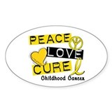 Childhood cancer awareness Bumper Stickers