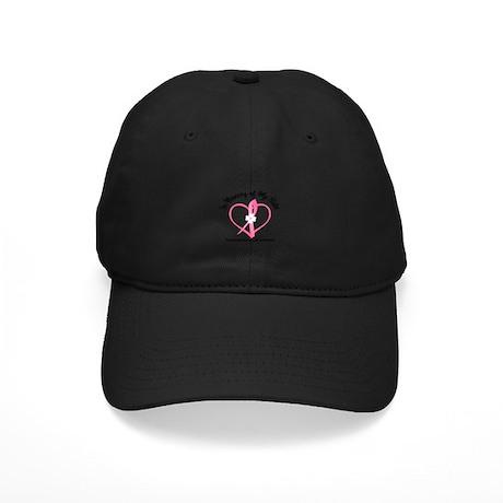 BreastCancerMemorySister Black Cap