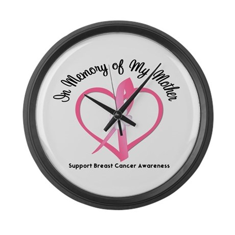 BreastCancerMemoryMother Large Wall Clock