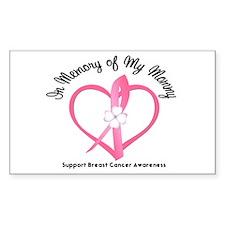 BreastCancerMemoryMommy Rectangle Sticker 10 pk)