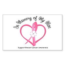 BreastCancerInMemoryMom Rectangle Sticker 10 pk)