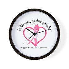 BreastCancerInMemoryGrandma Wall Clock