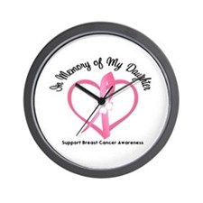 BreastCancerInMemoryDaughter Wall Clock