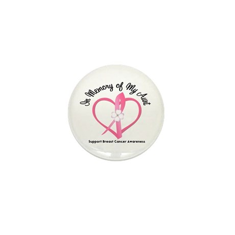 BreastCancerInMemoryAunt Mini Button