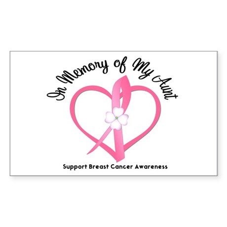 BreastCancerInMemoryAunt Rectangle Sticker
