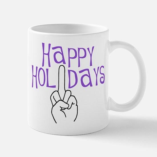 happy holidays middle finger Mug