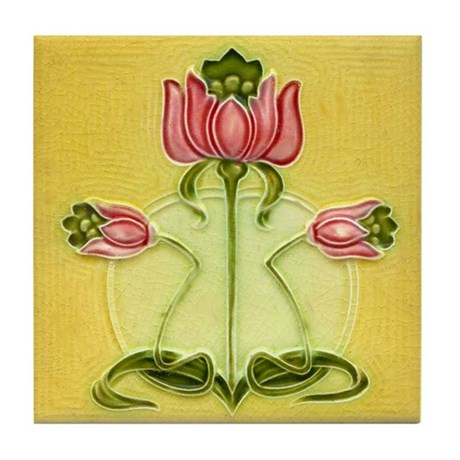 Mission Style Rose Art Wall Tile Or Coaster By Vintageartgirl