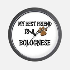 My best friend is a BOLOGNESE Wall Clock