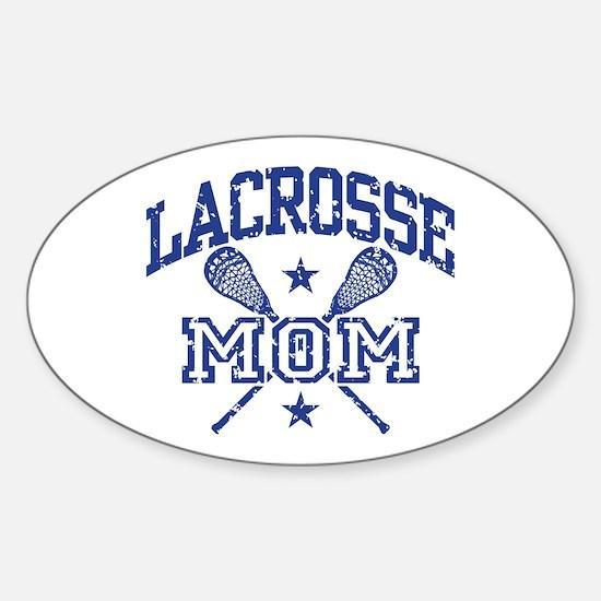 Lacrosse Mom Sticker (Oval)