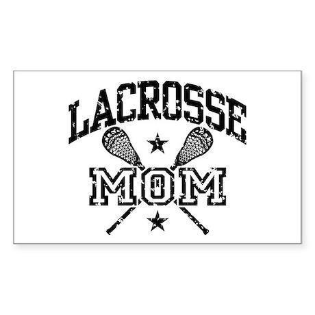 Lacrosse Mom Rectangle Sticker