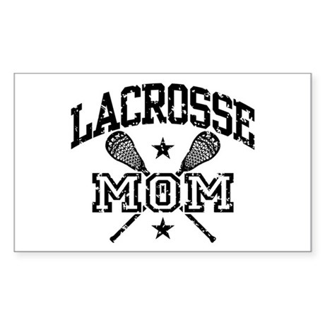 Lacrosse Mom Sticker (Rectangle)