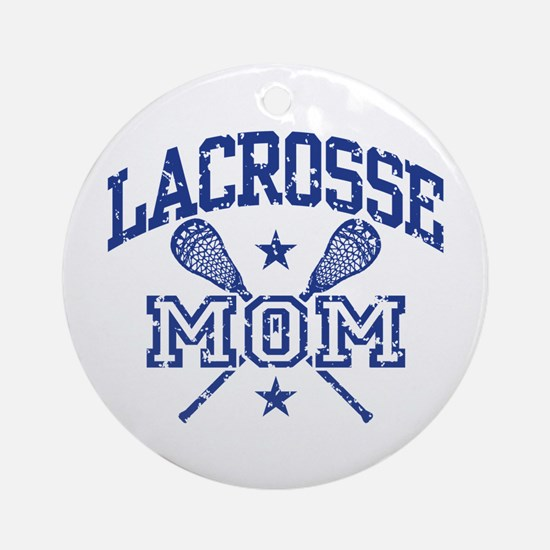 Lacrosse Mom Round Ornament