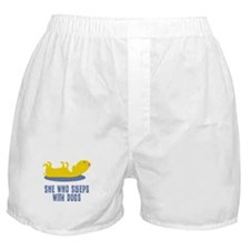 Sleeps With Dogs Boxer Shorts