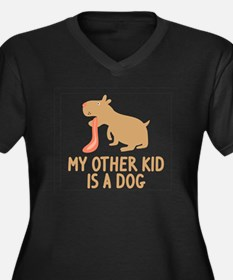 My Other Kid Is A Dog Women's Plus Size V-Neck Dar