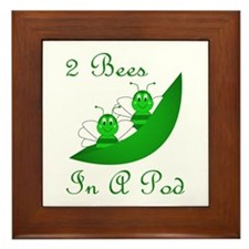 Two Bees In A Pod Framed Tile