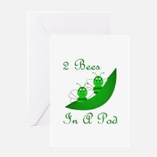 Two Bees In A Pod Greeting Card