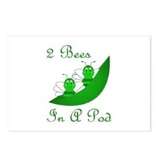 Two Bees In A Pod Postcards (Package of 8)