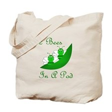 Two Bees In A Pod Tote Bag