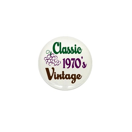Vintage 1970's Birthday Mini Button