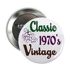"""Vintage 1970's Birthday 2.25"""" Button"""