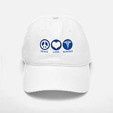 Peace Love Nursing Baseball Baseball Cap