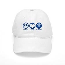 Peace Love Nursing Baseball Cap