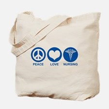 Peace Love Nursing Tote Bag