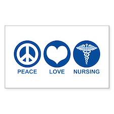 Peace Love Nursing Rectangle Bumper Stickers