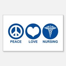 Peace Love Nursing Rectangle Bumper Stickers