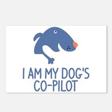 I Am My Dog's Co-Pilot Postcards (Package of 8)