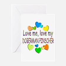 Doberman Greeting Cards (Pk of 20)