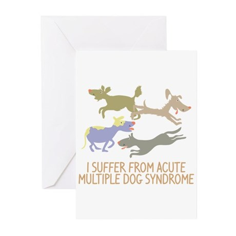 Acute Multiple Dog Syndrome Greeting Cards (Pk of
