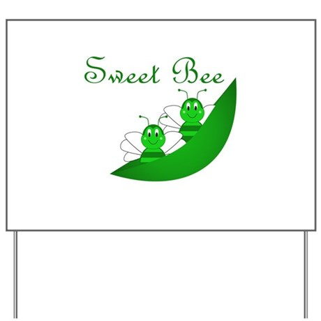 Sweet Bee Twins Yard Sign