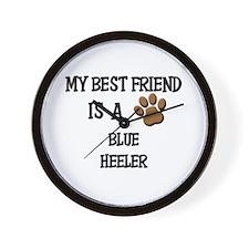 My best friend is a BLUE HEELER Wall Clock