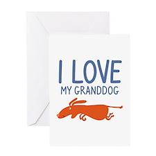 I Love My Granddog Greeting Card