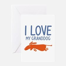 I Love My Granddog Greeting Card
