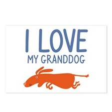 I Love My Granddog Postcards (Package of 8)