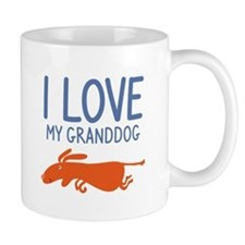 I Love My Granddog Small Mug