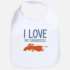 I Love My Granddog Bib